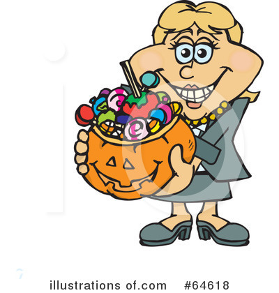 Royalty-Free (RF) Trick Or Treating Clipart Illustration by Dennis Holmes Designs - Stock Sample #64618