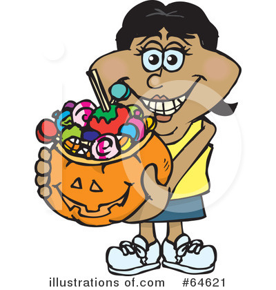Trick Or Treating Clipart #64621 by Dennis Holmes Designs
