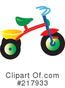 Royalty-Free (RF) tricycle Clipart Illustration #217933