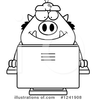 Computer Clipart #1241908 by Cory Thoman