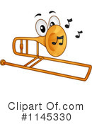 Royalty-Free (RF) Trombone Clipart Illustration #1145330