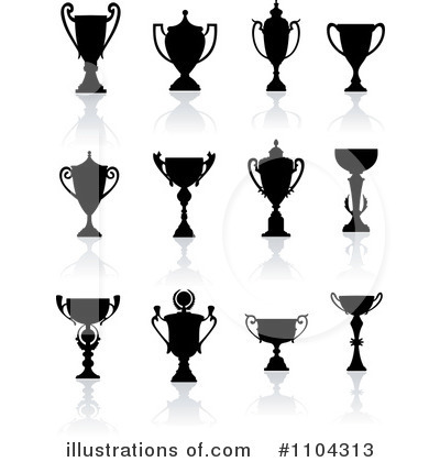 Royalty Free RF Trophies Clipart Illustration By Vector Tradition SM