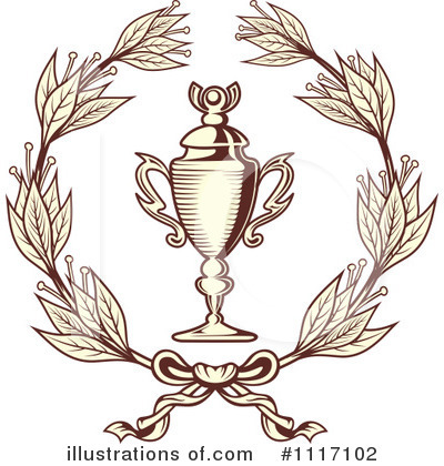 Laurel Wreath Clipart #1117102 by Vector Tradition SM