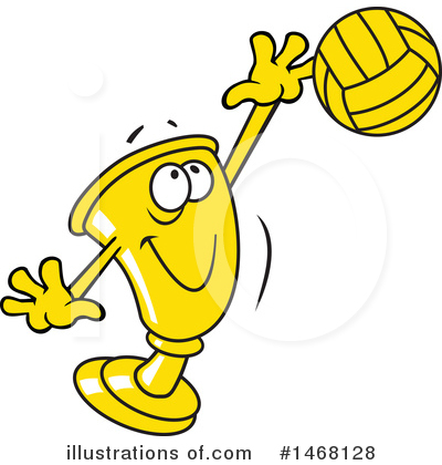 Volleyball Clipart #1468128 by Johnny Sajem