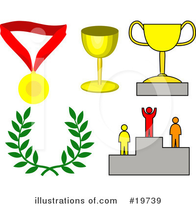 Royalty-Free (RF) Trophy Clipart Illustration by AtStockIllustration - Stock Sample #19739