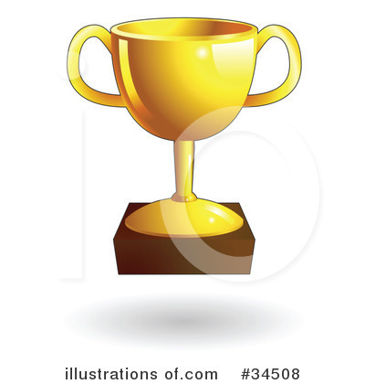 Trophy Clipart #34508 - Illustration by AtStockIllustration