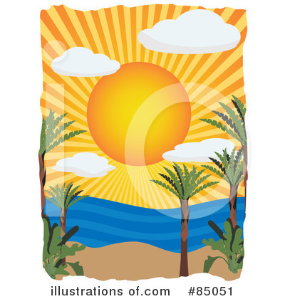 Royalty-Free (RF) Tropical Beach Clipart Illustration by mheld - Stock Sample #85051