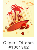 Royalty-Free (RF) Tropical Island Clipart Illustration #1061982