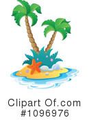 Royalty-Free (RF) Tropical Island Clipart Illustration #1096976