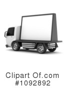 Royalty-Free (RF) Truck Clipart Illustration #1092892