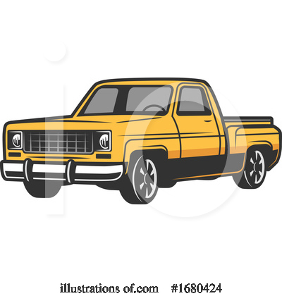 Royalty-Free (RF) Truck Clipart Illustration by Vector Tradition SM - Stock Sample #1680424