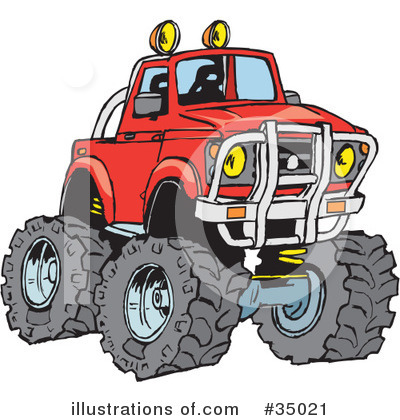 Pickup Clipart #35021 by Dennis Holmes Designs