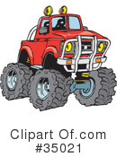 Royalty-Free (RF) truck Clipart Illustration #35021
