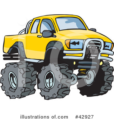 Pickup Clipart #42927 by Dennis Holmes Designs