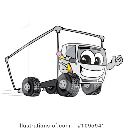 Big Rig Clipart #1095941 by Toons4Biz