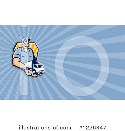 Royalty-Free (RF) Trucking Clipart Illustration by patrimonio - Stock Sample #1226847