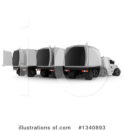 Big Rig Clipart #1340893 by KJ Pargeter