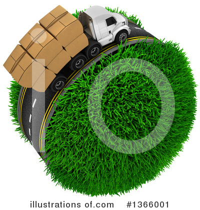 Trucking Clipart #1366001 by KJ Pargeter