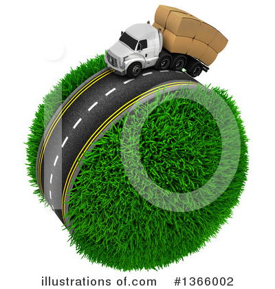 Royalty-Free (RF) Trucking Clipart Illustration by KJ Pargeter - Stock Sample #1366002