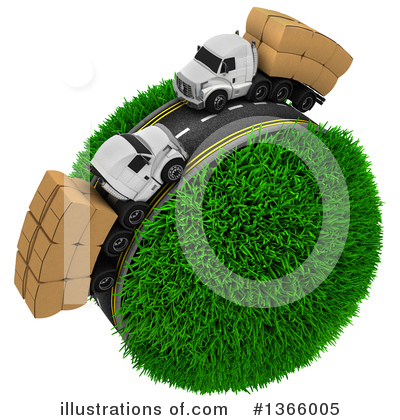 Royalty-Free (RF) Trucking Clipart Illustration by KJ Pargeter - Stock Sample #1366005