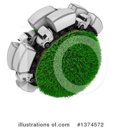 Trucking Clipart #1374572 by KJ Pargeter