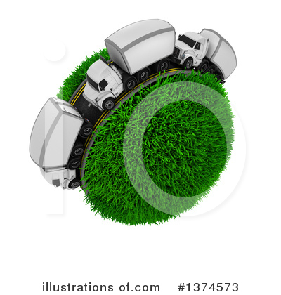 Trucking Clipart #1374573 by KJ Pargeter