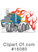 Royalty-Free (RF) trucking Clipart Illustration #16080