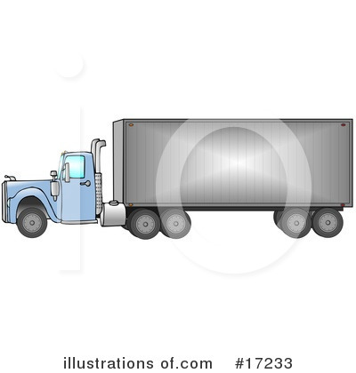 Big Rig Clipart #17233 by djart