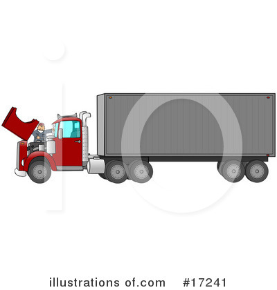 Big Rig Clipart #17241 by djart