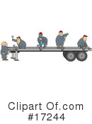 Royalty-Free (RF) Trucking Industry Clipart Illustration #17244
