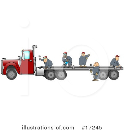 Big Rig Clipart #17245 by djart