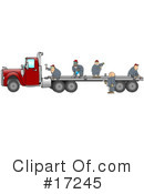 Royalty-Free (RF) trucking industry Clipart Illustration #17245