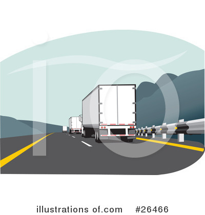 Royalty-Free (RF) Trucking Industry Clipart Illustration by David Rey - Stock Sample #26466