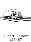 Trucking Industry Clipart #26467 by David Rey
