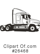 Trucking Industry Clipart #26468 by David Rey