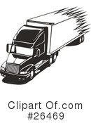Trucking Industry Clipart #26469 by David Rey