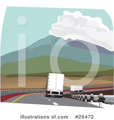 Trucking Industry Clipart #26472 by David Rey
