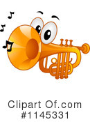 Royalty-Free (RF) Trumpet Clipart Illustration #1145331