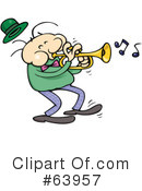 Royalty-Free (RF) Trumpet Clipart Illustration #63957
