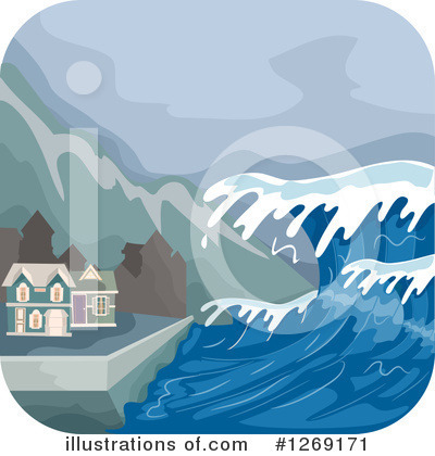 Royalty-Free (RF) Tsunami Clipart Illustration by BNP Design Studio - Stock Sample #1269171