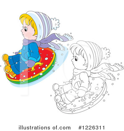 Snow Tubing Clipart #1226311 by Alex Bannykh