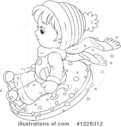 Snow Tubing Clipart #1226312 by Alex Bannykh