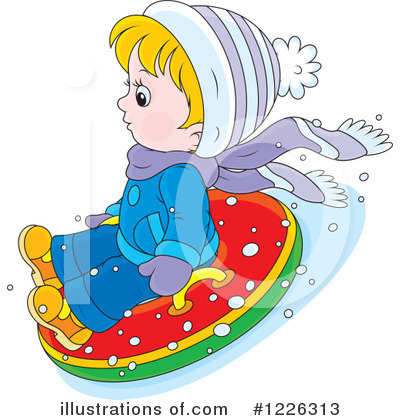 Snow Tubing Clipart #1226313 by Alex Bannykh