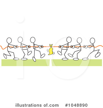 Tug Of War Clipart #1048890 by Johnny Sajem