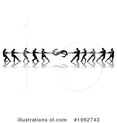 Tug Of War Clipart #1062743 by AtStockIllustration