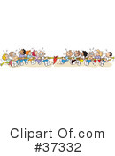 Royalty-Free (RF) Tug Of War Clipart Illustration #37332