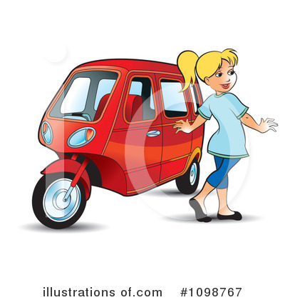 Taxi Clipart #1098767 by Lal Perera