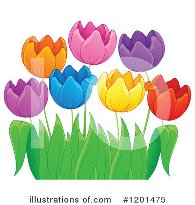 Royalty-Free (RF) Tulip Clipart Illustration by visekart - Stock Sample #1201475