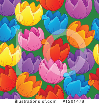 Royalty-Free (RF) Tulip Clipart Illustration by visekart - Stock Sample #1201478