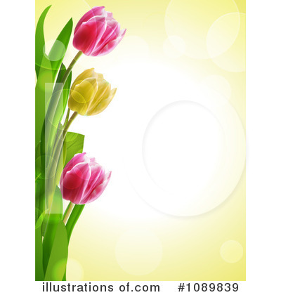 Tulips Clipart #1089839 - Illustration by elaineitalia Tulips Border Clipart